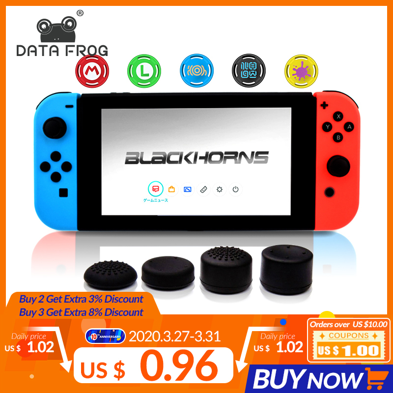 Anti-Slip Silicone Thumb Grips Thumb Stick Caps Case For Joy-Con Controller Analog Cover For Nintendo Switch Console