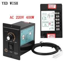 Controlador de velocidad del Motor AC 220 V 50Hz 400W controlador de velocidad del Motor sin escalones ajustable Digital 0 1450rpm regulador de velocidad AC 220 V