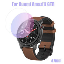 42/47mm Smart Watch Protective Accessories for AMAZFIT GTR Smart Watch 1PC Clear Film Tempered Glass Screen Protector(China)