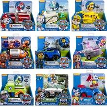 Juego de juguetes de patrulla de patas auténticas para coche con caja de figuras de acción de la serie especial juguetes de dibujos animados de perro de juguete para niños regalo de Cumpleaños