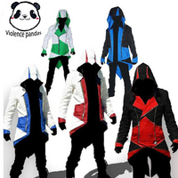 NEW COOL Assassin's Creed Medieval Tuxedo Halloween Connor Jacket Red Black Cosplay Game COS Costume
