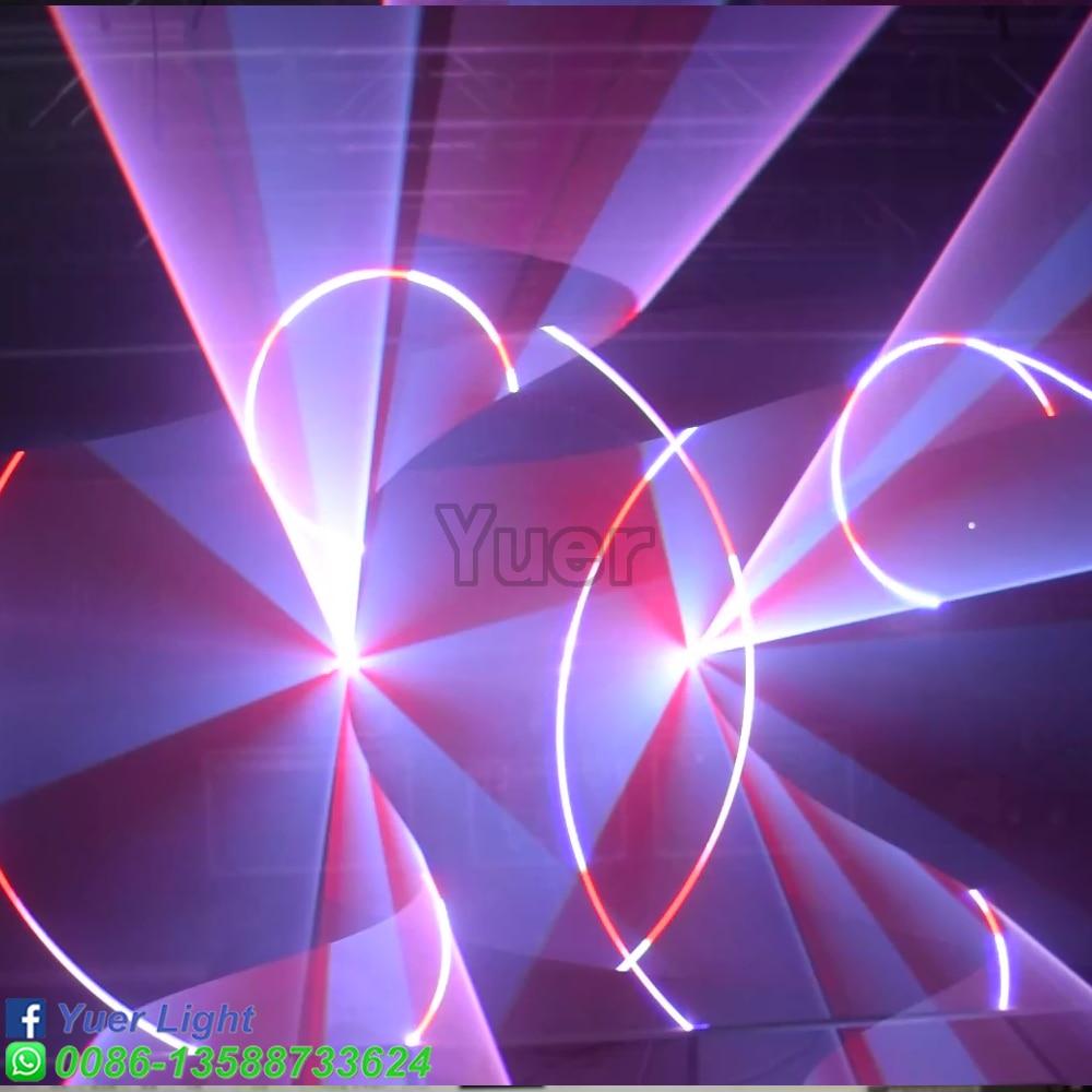 Купить с кэшбэком 8W RGB Laser Light HighPower beam graphics animations Suitcase packing Semiconductor refrigeration DMX512  bar Disco stage light