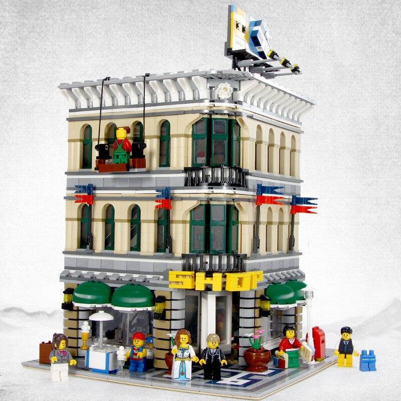 15005 Creator Series Street View Department Store Grand Emporium Building Blocks 2232pcs Bricks Toys Compatible Creator 10211 2