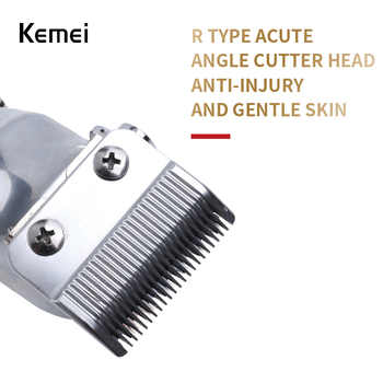 Kemei-1996 Barber Shop Rechargeable Hair Clipper All Metal Electric Hair Trimmer Men Professional Beard Trimmer Haircut Machine