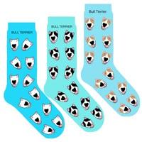 unisex smiling bull terrier socks novelty cotton socks with dog bulterier dog breed gift for dog lover original creative 50pair