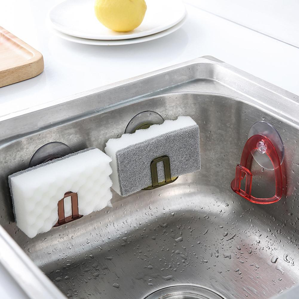 Kitchen Bathroom Drying Rack Toilet Sink Suction Sponges Holder Rack Suction Cup Dish Cloths Holder Scrubbers Soap Storage 40P