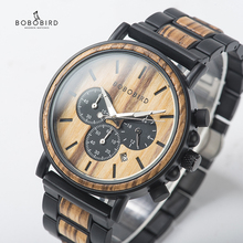 relogio Wood Watches  BOBO BIRD Men Watch Date Display Luxur