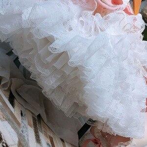 Image 5 - 2 pièces fille hiver laine rose à manches longues Vintage espagnol Lolita princesse robe de bal robe avec pantalon fille anniversaire de noël décontracté