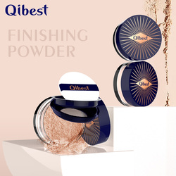 QIBEST Soft Smooth Finishing Powder Loose Powder Compact Face Contour Palette Makeup Corrector Highlighter Foundation Cosmetics