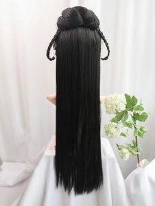 80cm vintage verpassen cosplay ganze haar studio fotografie liefert chinesische alte dynastie kopfschmuck karneval kleid bis
