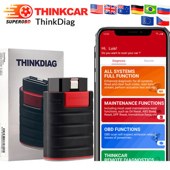 NEW THINKCAR Thinkdiag same as easydiag 3.0 X431 Bluetooth adapter update online full system OBD2 Scanner Diagnostic Tool