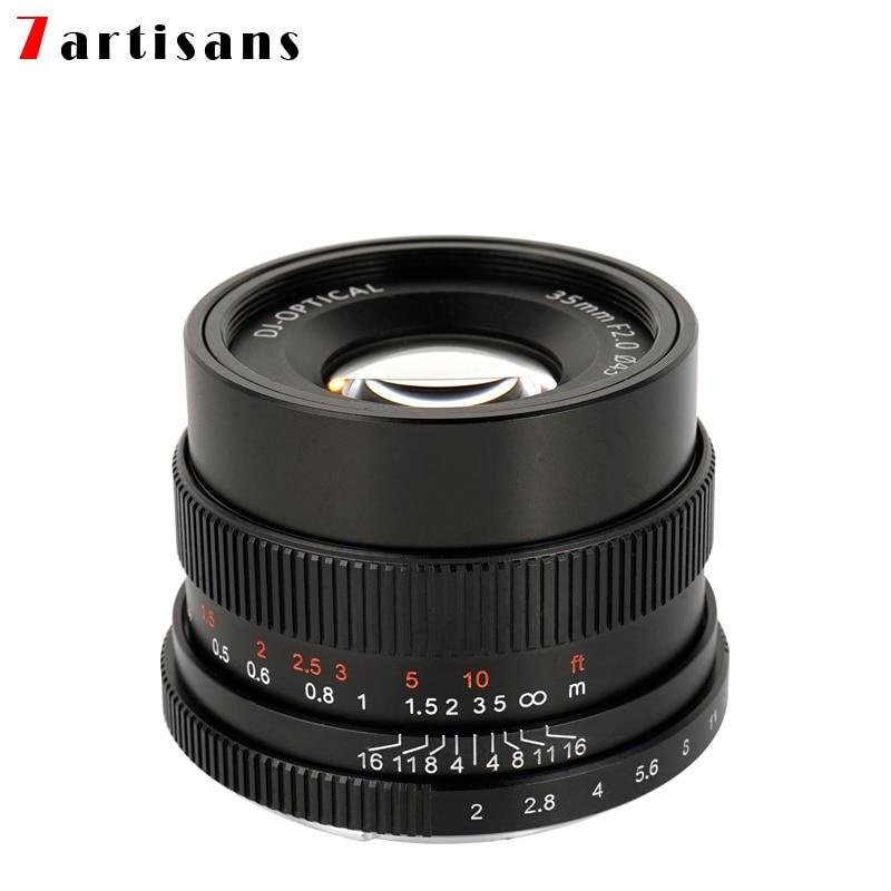 7artisans 35mm f2.0 Prime Lens to All Single Series for E-mount  FX-mount Cameras A7 A7II A7R A7RII A7S A6500 X-A10 X-A2 X-A3