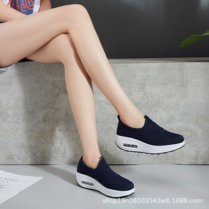 Image 5 - COWCOM Drop Sale  Spring Cushion Thick Bottom Flying Weaving Hollow Breathable  Leisure Sports WADDLE Shoes Female Hair CYL 2008