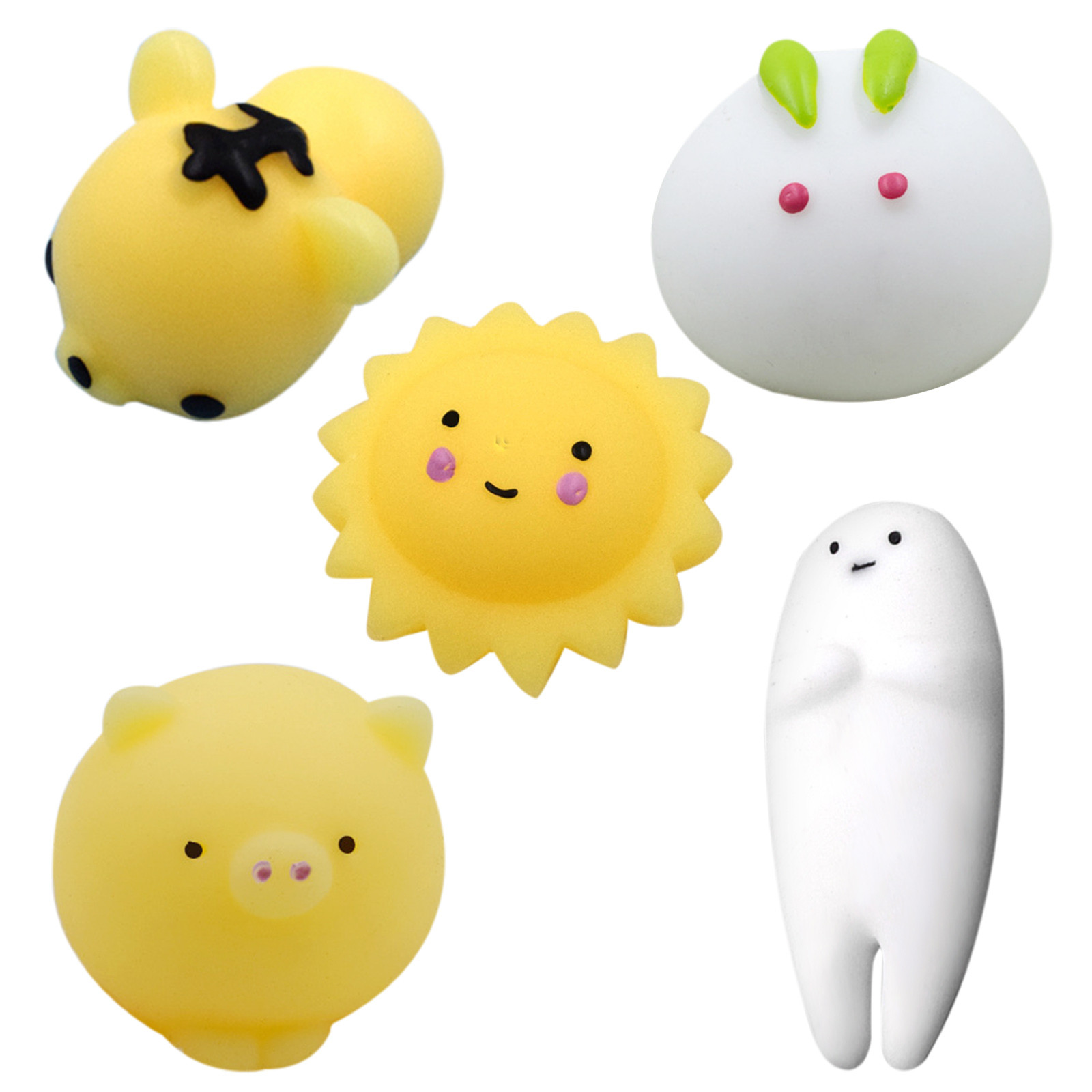 Fidget-Toys Squish Squeeze Kawaii Animal-Toy Relief-Set Slow Rising Adults 5pack Kids img4