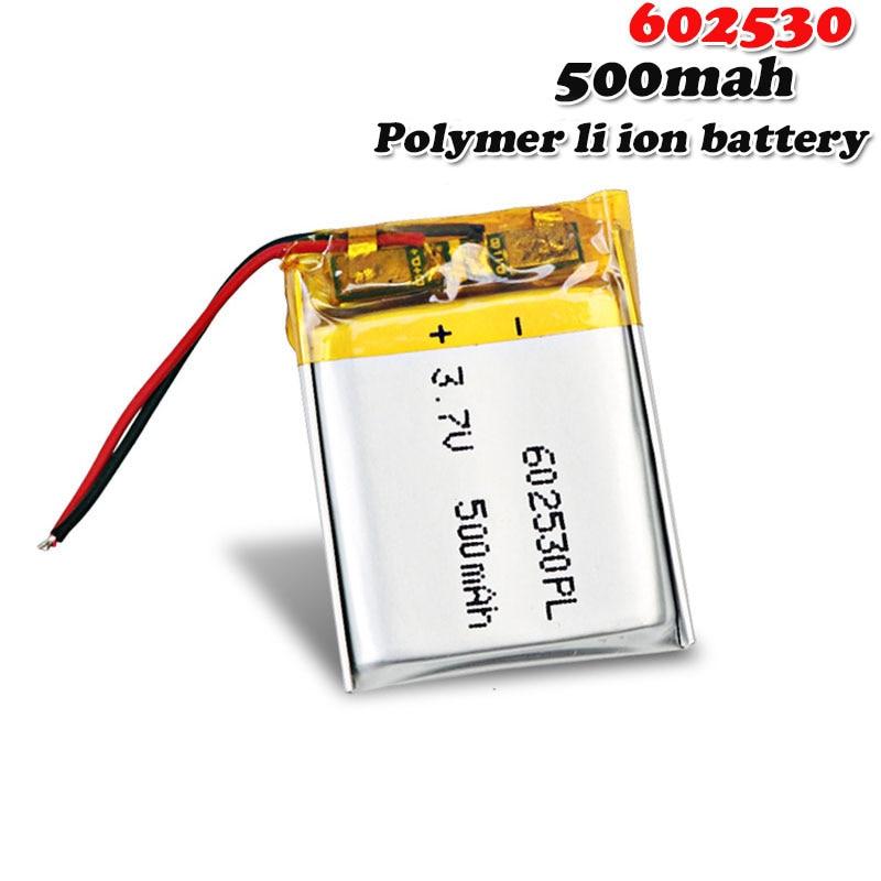 602530 3.7V 500MAH litowo-polimerowy akumulator na słuchawki z bluetooth MP3 MP4 MP5 GPS DVD MID kamera rejestrator jazdy