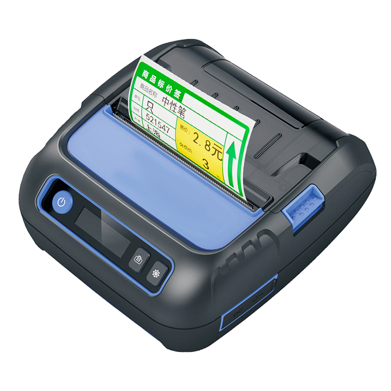 80mm Bluetooth Thermal Printer Pocket Label Printer Label Maker 58mm Receipt Printer For Android/iPhone/POS/ESC Supermarket