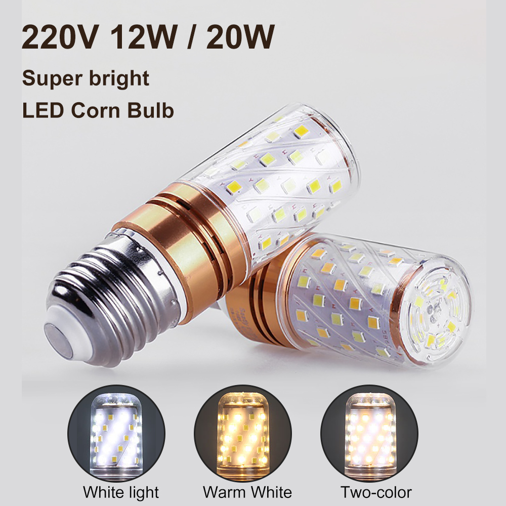 LED Corn Bulb E27 E14 SMD 2835 No Flicker led lamp 12W 16W 20W 100V-240V Chandelier Candle LED Light For Home Decoration