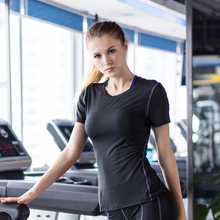 Hot New Quick Dry Compression Tight Coat Female T-Shirt Fitness Jersey Yoga Blouse Table Tennis Running WomenS Shirt Sport Suit
