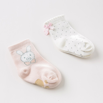 DB11974 dave bella spring autumn baby girls Lolita print sock children bows lovely socks image