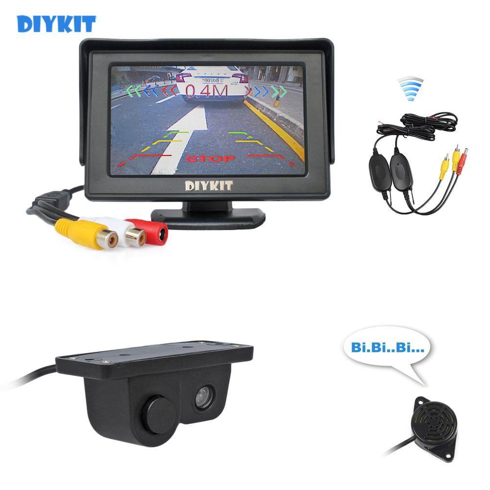 "4.3/"" 2in1 Video TFT Weatherproof Parking Monitor Rear View Camera Imaging sensor"