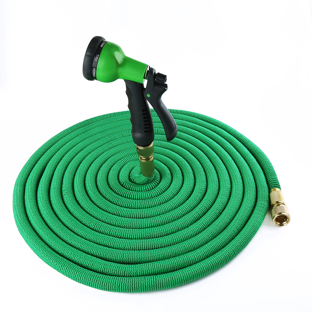 75FT New Style Natural Double Layer Latex Ends All Asian Edition Pipe Three Times Garden Vehicle Cleaning Telescopic Pipe