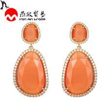 12Color Luxury Earrings Geometric Shape Advanced K9 Glass Crystal Gem Earrings For Women Blue Color 2020 Fashion Jewelry pair of graceful faux gem rivet geometric earrings for women