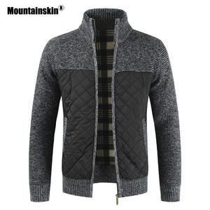 Mountainskin Knitted Sweater Coats Clothing Jackets Cardigan Male Men's Winter SA833