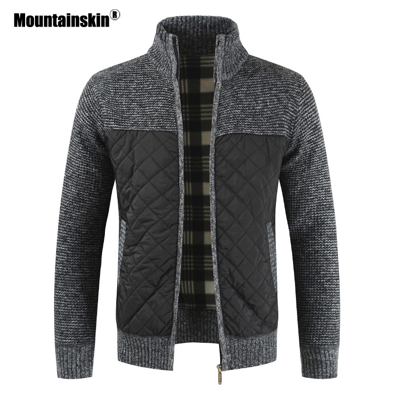 Mountainskin Men's Sweaters Autumn Winter Warm Knitted Sweater Jackets Cardigan Coats Male Clothing Casual Knitwear SA833(China)