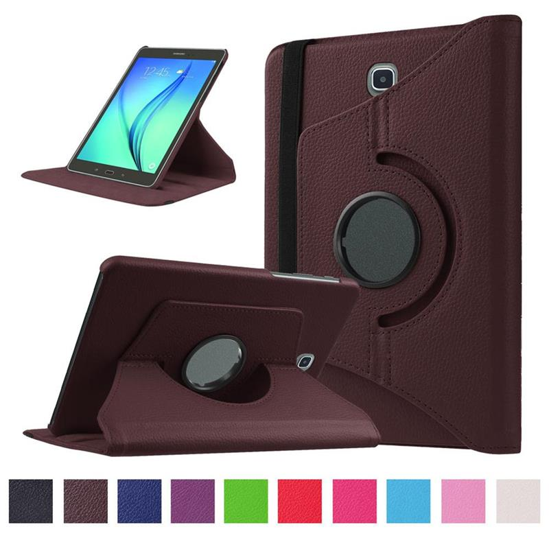 Stand Folio Protective Shell For Samsung Galaxy TAB A 10.1 SM-T510/SM-T515 Luxury 360 Rotating Leather Smart Magnetic Cover Case image