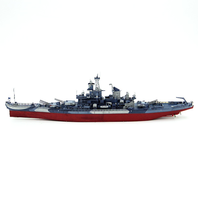 Piececool Color Version Metal Puzzle Glue-free DIY Assembled Model 3D Jigsaw USS Missouri Battleship