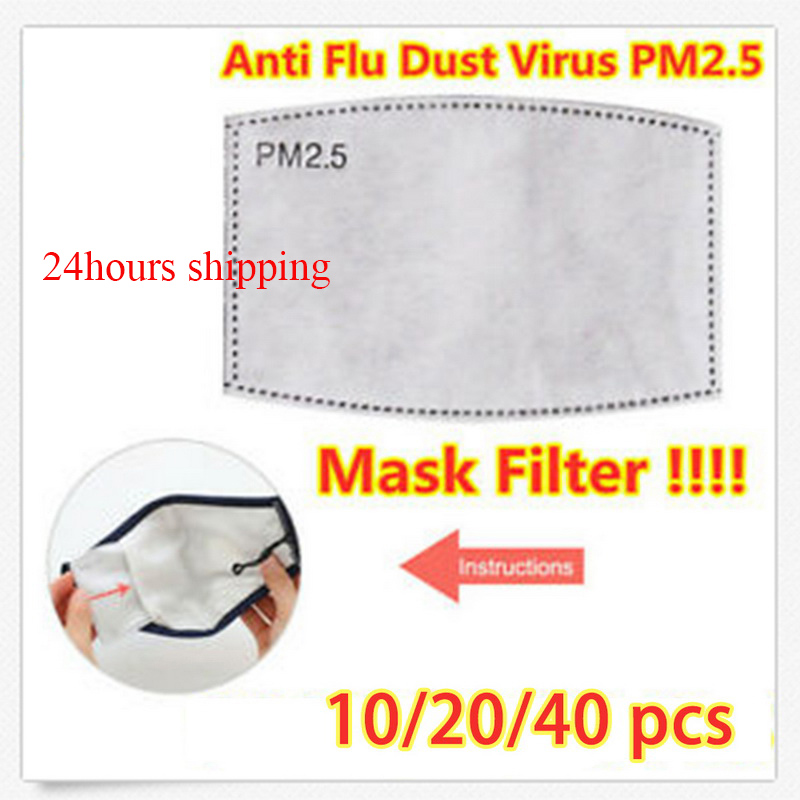 10/20/40pcs Breathable PM2.5 Filter Paper Mouth Mask Filter Paper Face Shield Filter Anti  Mask Anti Dust Mouth Cover