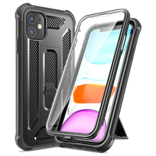 Роскошный черный Жесткий Чехол для iPhone 11 pro Max Чехол черный чехол с Экран protectorBring Поддержка Чехлы для телефона с выдвижной подставкой Капа крышка