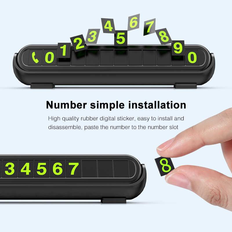2020 חדש זוהר רכב זמני חניה כרטיס מדבקת רכב מטהר אוויר אוטומטי טלפון מספר כרטיס צלחת רכב ארומתרפיה אביזרים