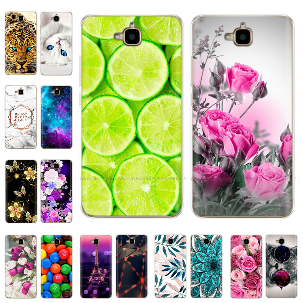 Case For Huawei Honor 4C Pro Case For Huawei Y6 Pro 2015 Phone Case Silicone Cover TPU Coque For Honor 4C Pro TIT-L01 TIT-TL00 image