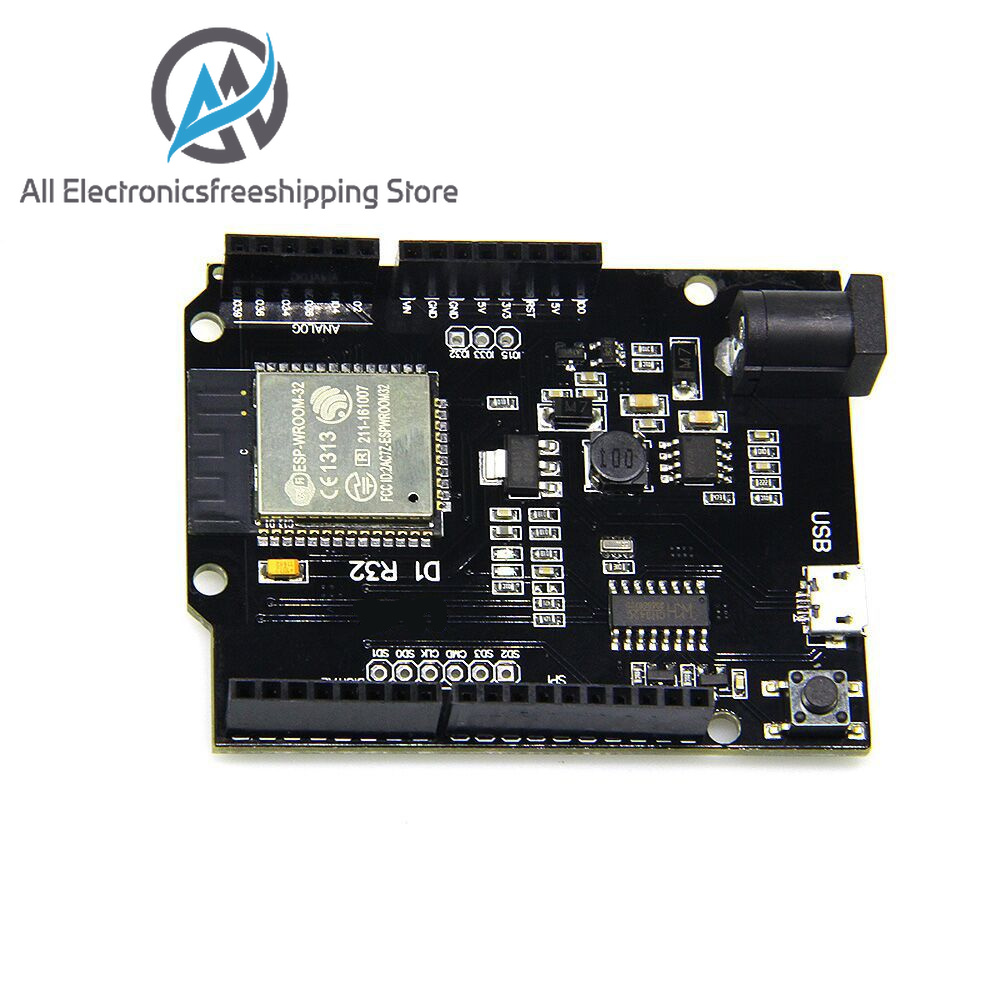 For Wemos D1 ESP32 ESP-32 WiFi Bluetooth 4MB Flash UNO D1 R32 Board Module CH340 CH340G Development Board For Arduino