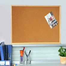Cork-Board Notice Wall-Mounted Hanging Wood NNRTS Display Pushpin Office-Supplies New
