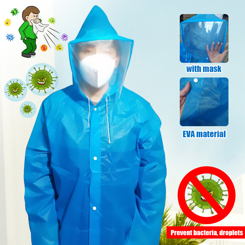 Disposable Waterproof Oil-Resistant Protective Coverall For Spary Painting Decorating Clothes Overall Suit Workwear With Mask