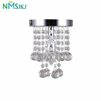 Modern Mini Rain Drop Small Crystal Chandelier Lustre Light with Top K9 Stainless Steel FrameD16cm H23cm