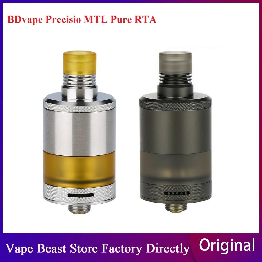 New Heavengifts BDvape Precisio MTL RTA 2.7ml Capacity & 22mm RTA Atomizer For Optimal MTL & DL Vaping E-cig Vape Tank Vs Zeus X