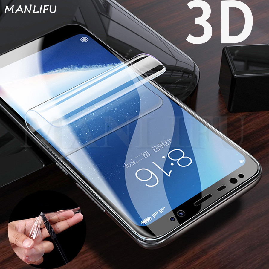 3D Full Cover Silicone Hydrogel Film A8 A6 Plus J8 2018 Protective Screen Protector For Samsung Galaxy Note 9 S9 S8 PLUS S7 EDGE
