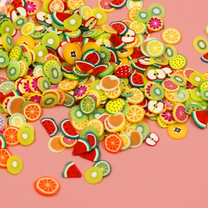 Kawaii Faux Fruit Food Animal UV Resin Jewelry DIY Embellishments For Resin Shaker Charm Colorful For Fake Food DIY Pendant