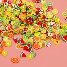 Kawaii Faux Fruit Food Animal UV resina joyería DIY adornos para Resina Shaker encanto colorido para comida falsa DIY colgante