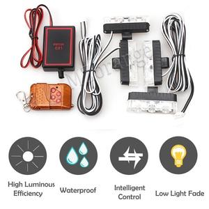 Image 2 - Luz estroboscópica de emergencia para coche y camión luz de advertencia estroboscópica con control remoto inalámbrico de 4x 3/led para ambulancia y Policía