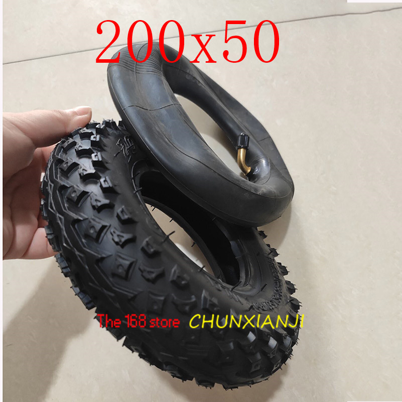 "High Quality (8"" X 2"") 200X50 (8 Inch)Tire Fit for Electric Gas Scooter & Electric Scooter(inner Tube Included) Wheelchair Wheel-in Tyres from Automobiles & Motorcycles"