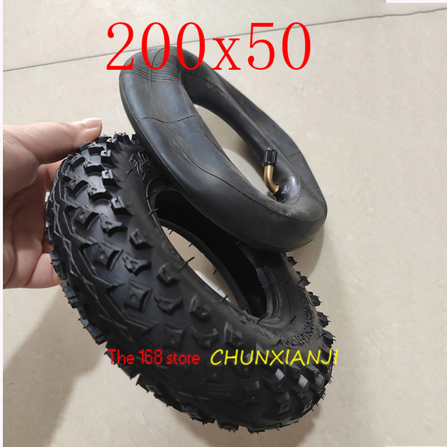 """High Quality (8"""" X 2"""") 200X50 (8 Inch)Tire Fit for Electric Gas Scooter & Electric Scooter(inner Tube Included) Wheelchair Wheel"""