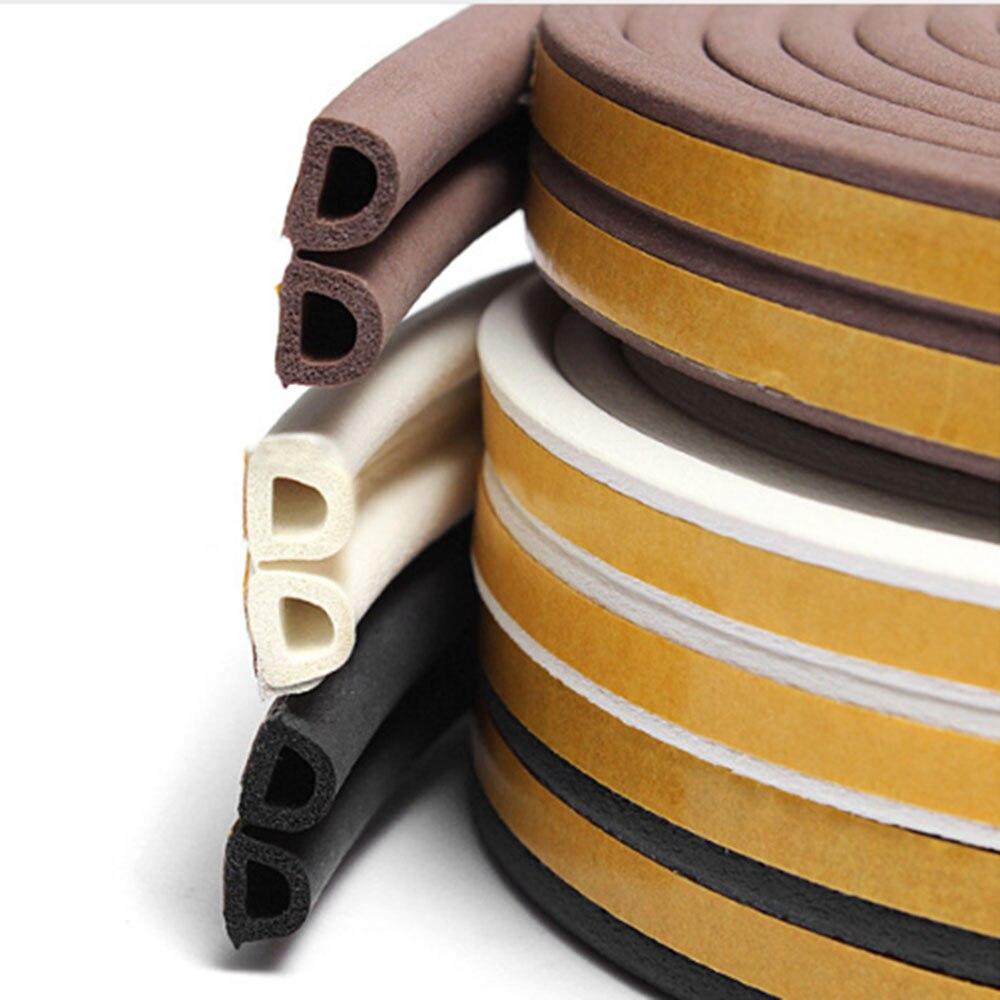 Self-Adhesive Sealing Strip Type Sticker Avoidance Strips Soundproofing Rubber Seal Collision Doors Windows Foam Acoustic Foam
