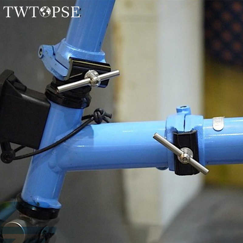 TWTOPSE Magnetic Hinge Clamp Plate For Brompton Folding Bike Bicycle C Clamp Plate Lightweight 31.8g Aluminum Alloy