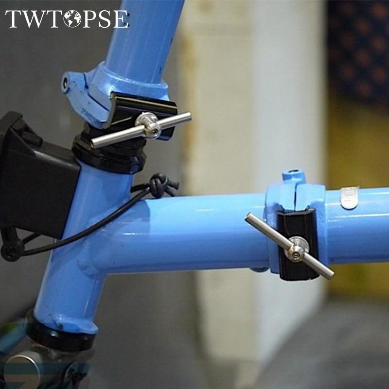 Spor ve Eğlence'ten Koltuk Kelepçeleri'de TWTOPSE Manyetik Menteşe Kelepçe Plakası Brompton Katlanır Bisiklet Bisiklet C Kelepçe Plaka Hafif 31.8g Alüminyum Alaşım title=