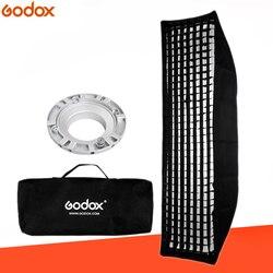 Godox softbox 35x160cm 14x 63 Portable Rectangular Honeycomb Grid Softbox soft box with Bowens Mount for Studio Flash