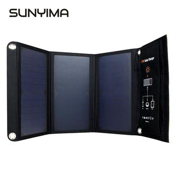 SUNYIMA 21W Portable Foldable Solar Charger Power  Sun Power Panel Charge with 2 USB Port Charging Board